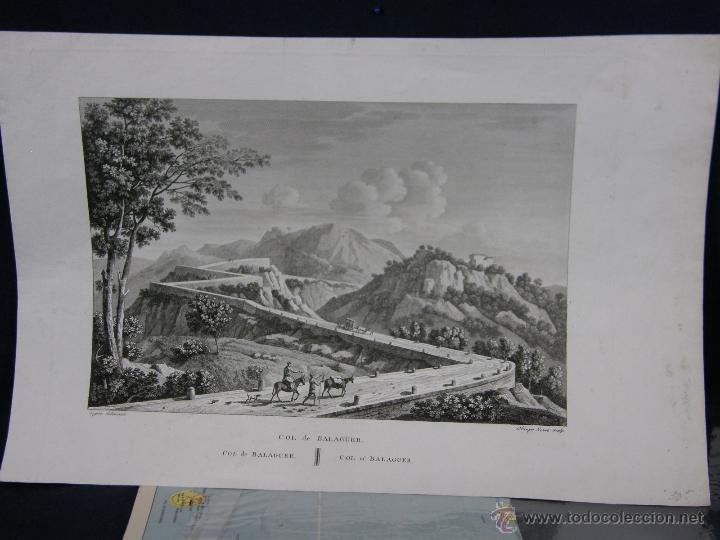GRABADO COL DE BALAGUER CATALUNYA LLEIDA LIGIER DELINEAVIT OLIMPE NEVEU SCULP (Arte - Grabados - Antiguos hasta el siglo XVIII)