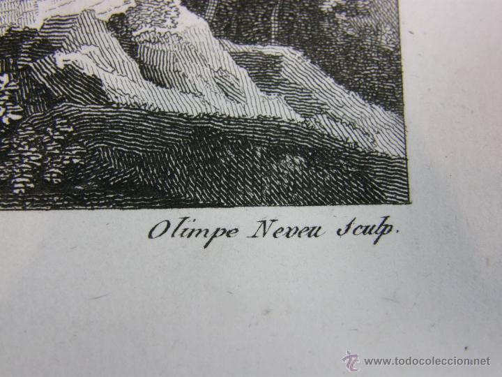 Arte: grabado Col de Balaguer Catalunya LLeida Ligier Delineavit Olimpe neveu Sculp - Foto 3 - 40479092