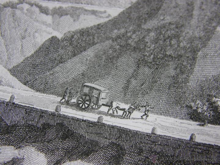 Arte: grabado Col de Balaguer Catalunya LLeida Ligier Delineavit Olimpe neveu Sculp - Foto 4 - 40479092