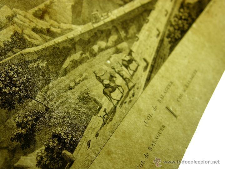 Arte: grabado Col de Balaguer Catalunya LLeida Ligier Delineavit Olimpe neveu Sculp - Foto 13 - 40479092
