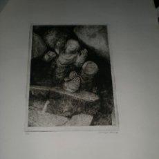 Arte: CARPETA DE 10 AGUAFUERTES DE LUIS LÓPEZ RUIZ.. Lote 40601419