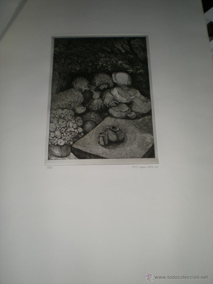 Arte: CARPETA DE 10 AGUAFUERTES DE LUIS LÓPEZ RUIZ. - Foto 2 - 40601419