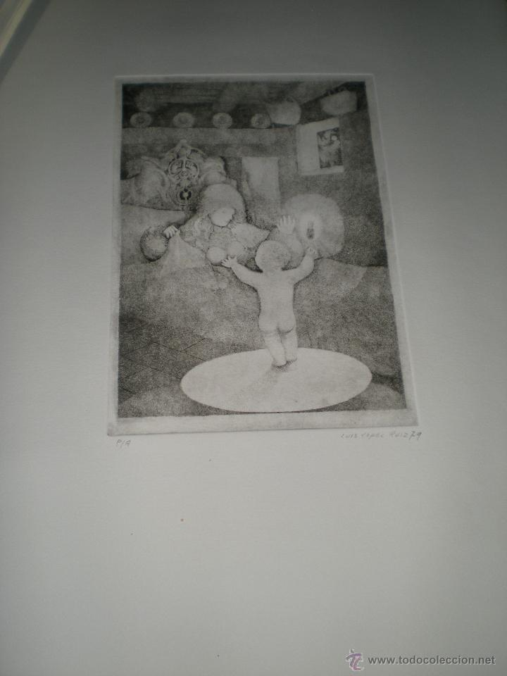 Arte: CARPETA DE 10 AGUAFUERTES DE LUIS LÓPEZ RUIZ. - Foto 9 - 40601419