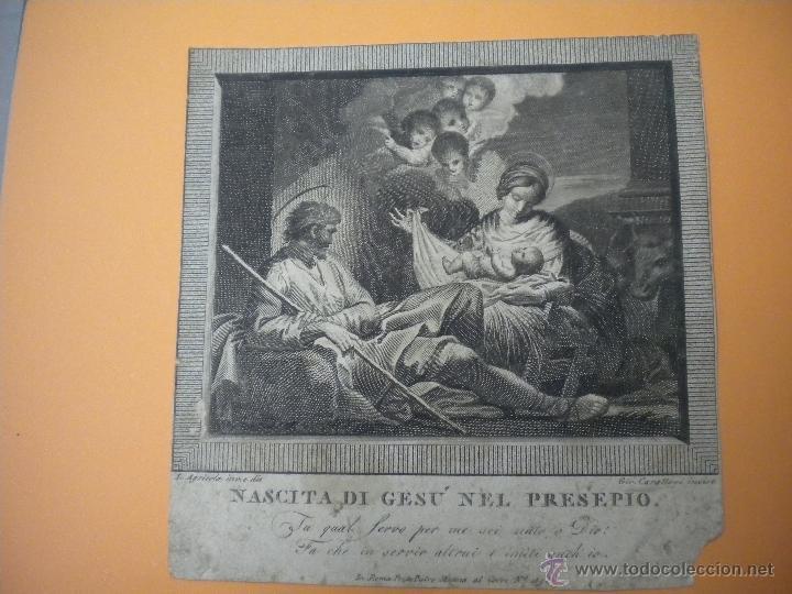 GRABADO ANTIGUO 18X18 CM (Arte - Grabados - Antiguos hasta el siglo XVIII)