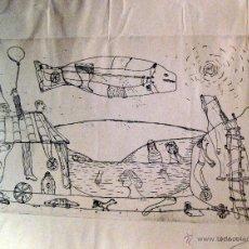 Arte: ANTONIO FERNÁNDEZ MOLINA. GRABADO ORIGINAL. Lote 40745345