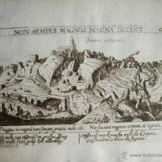 Arte: 1625- GERENA. SEVILLA. GRABADO ORIGINAL DE DANIEL MEISNER. Lote 40847729