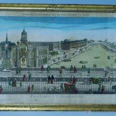 Arte: GRABADO PARÍS VEUE ET PERSPECTIVE DE LA SAMARITAINE PARÍS 1775 ? TALLER ANTOINE BASSET. Lote 40873900