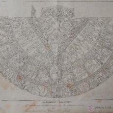 Arte: GRABADO ANTIGUO \ EL MANTO QUE USABA DURANTE LA CORONACIÓN EL EMPERADOR FRANCISCO JOSÉ I (1867). Lote 40975717