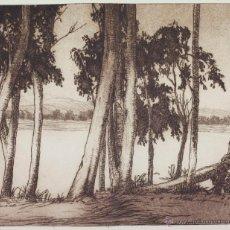 Arte: JOSEP TERSOL I ARTIGAS, 1922. GRABADO AGUAFUERTE FIRMADO Y FECHADO. 23X26 CM. SOPORTE: 47X50CM.. Lote 40983577