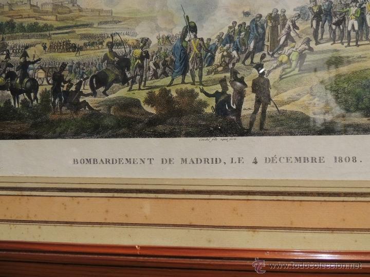 Arte: GRABADO ANTIGUO DEL BOMBARDEO DE MADRID EL 4 DE DIC 1808 - Foto 3 - 41030648
