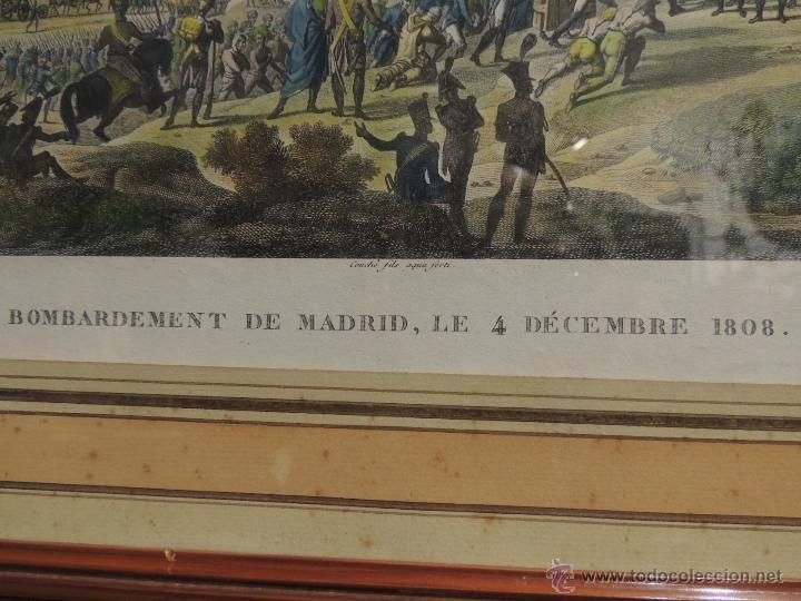 Arte: GRABADO ANTIGUO DEL BOMBARDEO DE MADRID EL 4 DE DIC 1808 - Foto 6 - 41030648
