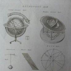 Arte: GRABADO ASTRONOMIA SIGLO XVIII. Lote 41031759