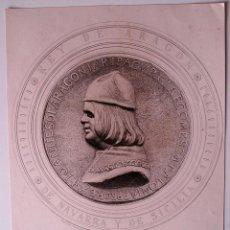 Arte: GRABADO ANTIGUO DE JUAN II DE CASTILLA Y PRINCIPE DE ASTURIAS . Lote 41116158