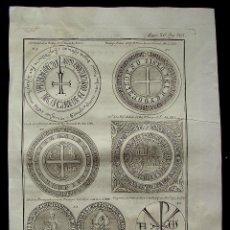 Arte: ANTIGUO GRABADO-SELLOS PRIVILEGIOS REYES-AÑOS 1222-1261-1342-1368-1484-1330-REYES CATOLICOS-(RVL. Lote 41145580