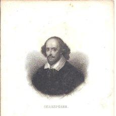 Arte: SHAKESPEARE - GRABADOR A. BOURGEOIS - 15 * 21,5 CM - S. XIX. Lote 41160498