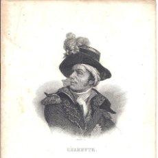 Arte: CHARETTE - GRABADOR SOUBERT - 15 * 21,5 CM - S. XIX. Lote 41160530