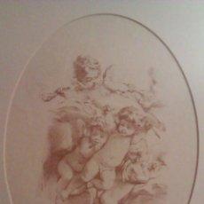 Arte: PRECIOSO GRABADO DE BOUCHER LOS ANGELES NUMERADO EN PLANCHA Y ENMARCADO MUSEO DE LOUVRE. Lote 41201989