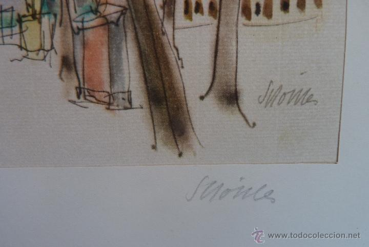 Arte: GRABADO EN COLOR, JARDÍN DE PARÍS, FIRMADO Y NUMERADO - Foto 5 - 41241460