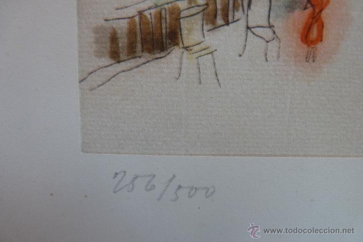 Arte: GRABADO EN COLOR, JARDÍN DE PARÍS, FIRMADO Y NUMERADO - Foto 8 - 41241460