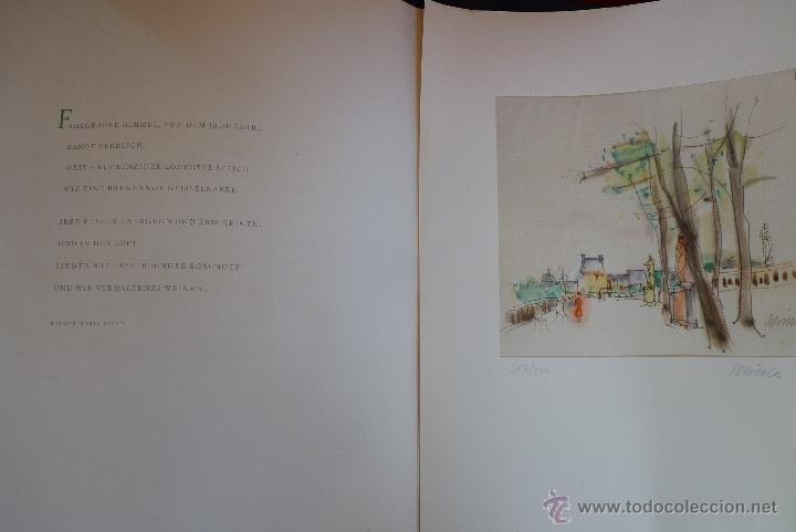 Arte: GRABADO EN COLOR, JARDÍN DE PARÍS, FIRMADO Y NUMERADO - Foto 11 - 41241460