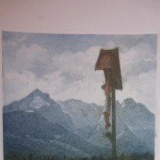 Arte: GRABADO EN COLOR, FIRMADO, CRUCIFICADO EN LA NATURALEZA. Lote 41241608