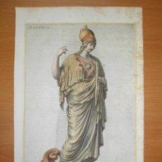 Arte: DIOSA ROMANA MINERVA, 1679, JOH. SANDRART. Lote 41315070