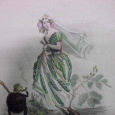 Arte: PERSONIFICACION DE LA SENSIBILIDAD, 1840, J.J. GRANDVILLE. Lote 41331442
