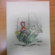 Arte: PERSONIFICACION DE FLORES DE PRIMAVERA, 1840, J.J. GRANDVILLE. Lote 41331484