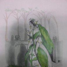 Arte: PERSONIFICACIÓN DE LA FLOR AZAHAR, 1840, J.J. GRANDVILLE. Lote 41331500