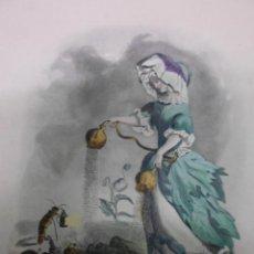 Arte: PERSONIFICACION DE LA FLOR AMAPOLA, 1840, J.J.GRANDVILLE. Lote 41331520