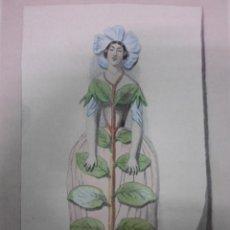 Arte: PERSONOFICACIÓN DE LA FLOR BÍGARO, 1840, J.J. GRANDVILLE. Lote 41331565