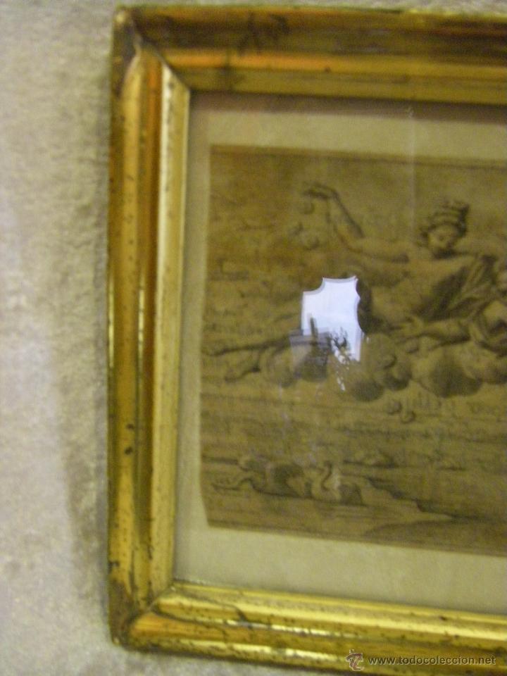 grabado alegórico del siglo xvii y marco de pla - Comprar Grabados ...
