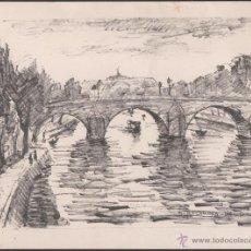Arte: L9-17 INTERESANTE GRABADO DEL PINTOR MANUEL ROCAMORA VIDAL (1892-1976) - PARIS 64 - TAMAÑO 22,50 X 1. Lote 41523510