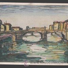 Arte: L9-17 INTERESANTE GRABADO EN COLOR DEL PINTOR MANUEL ROCAMORA VIDAL (1892-1976) - EL ARNO (FLORENCI. Lote 41621781