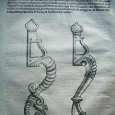 Arte: 1620-CABALLO FRENATO.APAREJOS ORNAMENTALES.TRATADO DE ANTONIO FERRARO.GRABADO ORIGINAL. Lote 41623911