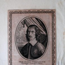 Arte: GRABADO MUY ANTIGUO PROCEDENTE DE LIBRO, HERR CASPAR CORNELIUS VON MORTAGNI, GENERAL LEUTENT. Lote 41755234