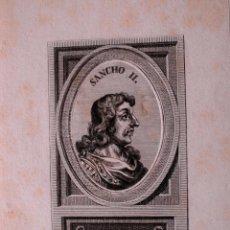 Arte: GRABADO MUY ANTIGUO DE SANCHO II DE CASTILLA Y LEON. Lote 41813605