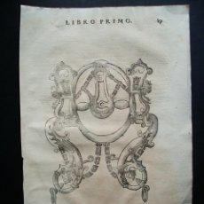 Arte: 1620-CABALLO FRENATO.APAREJOS ORNAMENTALES.TRATADO DE ANTONIO FERRARO.GRABADO ORIGINAL. Lote 41972700