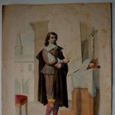 Arte: GRABADO ANTIGUO COLOREADO DE CHARLES ALEXANDRE LESUEUR, ARTISTA Y NATURALISTA FRANCES . Lote 42374933