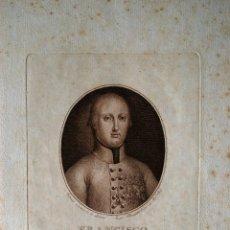 Arte: GRABADO DE 1802, FRANCISCO GENARO, PRINCIPE HEREDERO DE LAS DOS SICILIAS. Lote 42403138