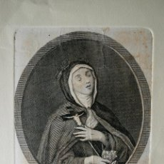 Arte: MUY ANTIGUO GRABADO DE SOR VERONICA DE GIULLIANI, CAPPUCCINA ITALIANA SIGLO XVII . Lote 42535046