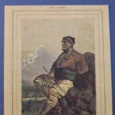 Arte: GRABADO O ESTAMPA DEL SIGLO XIX. TIPOS DE GACILIA. TRAGAPECES. FEDERICO DE GUISASOLA. 36 X 26 CM. Lote 42537831