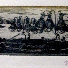 Arte: MARIANO RUBIO. PUERTO DE TARRAGONA. GRABADO ORIGINAL. Lote 42580783
