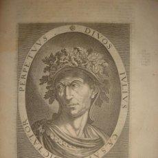 Arte: GRABADO DE JULIO CESAR, ORIGINAL, AMSTERDAM, 1621, DE CLERCK ESPLÉNDIDO. Lote 42619445