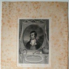 Arte: GRABADO DEL AÑO 1800 DE ROBERT BURNS, EL MAS FAMOSO POETA EN LENGUA ESCOCESA . Lote 42771988