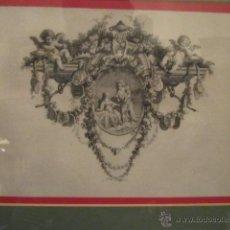 Arte: GRABADO ANTIGUO POSIBLEMENTE DE LIBRO, MEDIDA 16 X 23 CM. ENMARCADO 53 X 47 CM. . Lote 42804583