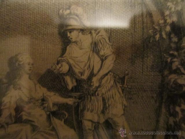 Arte: Grabado antiguo posiblemente de libro, medida 16 x 23 cm. enmarcado 53 x 47 cm. - Foto 5 - 42804583