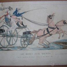 Arte: GRABADO SATÍRICO LE MORS AUX DENTS. DEPEUILLE, PARIS. Lote 42905212