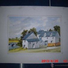 Arte: ACUARELA ANTIGUA FIRMADA. Lote 43019444