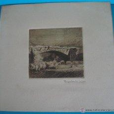 Arte: OBRA GRABADO FIRMADA POR RIGOBERTO SOLER 1869 - 1968. Lote 43037104